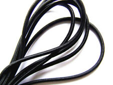 6 metres black round elastic cord strong 3 mm bungie/Hairbands/scrunchies/diy