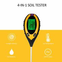 4in1 LCD Digital Temperature Garden Soil Tester Sunlight Moisture Soil PH Meter