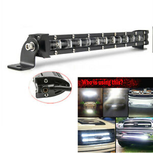34cm 120W Flood LED Work Light Bar For Car SUV Off Road Roof Driving Fog Lamp