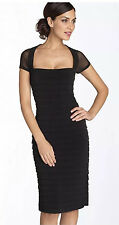 Maggy London Illusion Back Pleated Matte Jersey Dress Size 2 Black Nordstrom New