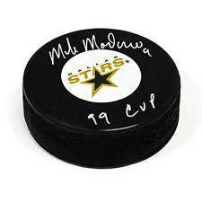 Mike Modano Dallas Stars Autographed Hockey Puck with 99 Cup Inscription