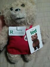 TED Talking Movie Teddy Bear 8 Inch R-Rated in Apron Seth MacFarlane New w/ Tags