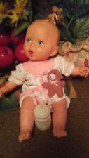 """Vintage 1994 Gerber Baby doll Toy Biz Inc. 15"""" Tall With Bottle and Teddy Bear"""