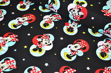 DISNEY Mickey MOUSE MINNIE USA TESSUTO DESIGN 0,5 m Mouse FUMETTI RARI BW B