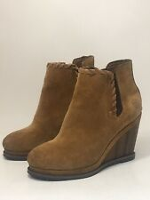**QUARANTINE SALE New ARIAT Soho Cognac Suede Wedge Boots Size 6