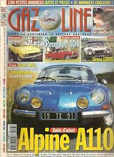 GAZOLINE 38 ALPINE A110 OPEL MANTA PEUGEOT 404 SIMCA 1200 S FIAT 124 SPIDER R8 G