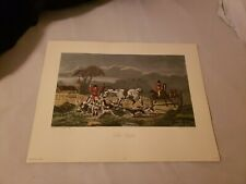 """1980 """"The Death"""" Fox Hunt Print Painted By J. F. Herring Engraved By C. R. Stock"""