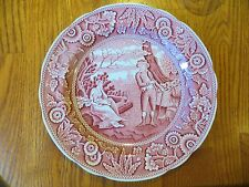 Spode Plate Archive Collection Cranberry Woodman Georgian Series England