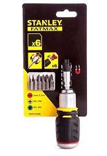 Stanley FatMax Stubby Trinquete Destornillador mango 0.6cm Portabrocas + BROCAS,