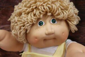 Cabbage Patch Kids Boy, Long Loop, Brat Face, Green Eyes, Freckles