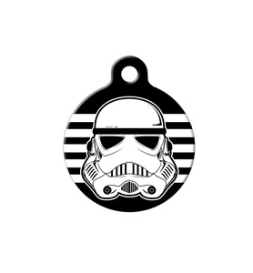 Pet ID Name Tag Storm Trooper Star Wars Personalised Custom DOG CAT Name Tag