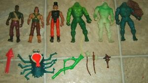 6 VINTAGE KENNER SWAMP THING LOOSE DC COMIC SUPER POWERS ACTIO FIGURE PARTS LOT