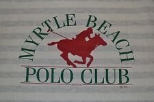 Vintage OG 80s 90s Myrtle Beach Polo Club Striped T Shirt XL Large