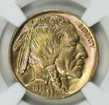1938-D Buffalo Nickel NGC MS-68 / MONSTER TONED / EXCEPTIONAL COIN / NO RESERVE