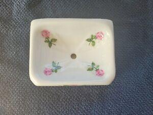 Floral Soap Dish Porcelain De Couleuvre