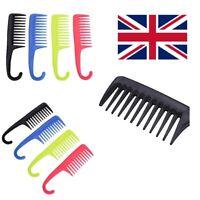 Wide Tooth bath/Shower Wet Hair Comb Detangler Hairdressing Extension brush UK