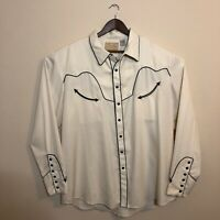 Scully Mens Western Embroidered Pearl Snap Cowboy Shirt XXL 2XL New Without Tags