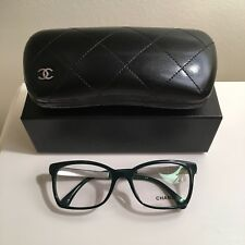 NEW Chanel dark green tweed glasses