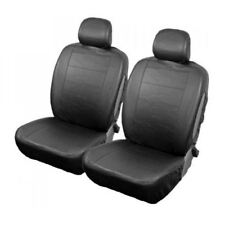 Black Leather Look Front Pair of Car Seat Covers for Toyota Avensis All Models