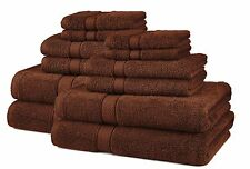 Brown Bath Towel Set Egyptian Cotton Thick Oversized ExtraHeavy Shower Soft 12pc