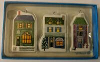 UNICEF for Hallmark Christmas Ornaments New NWT, House Ceramic, Set of 3 UBG1429