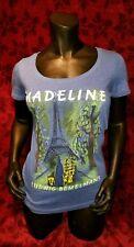 LARGE Madeline Ludwig Bemelmans T-shirt classic Children's Book Punk Rock Retro