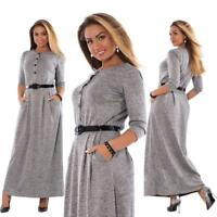 Elegant Long Sleeve Maxi Women's Office Work Dresses Plus Size Clothing 5XL 6XL