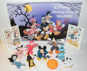 Disney Mickey and Friends Halloween Set of 12 With 10 Toy Figures Fun!