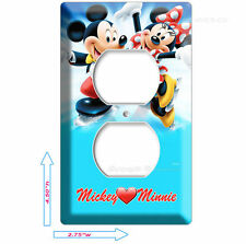 Mickey Mouse And Minnie In Love Ice Skating Electrical Power Outlet Wall Plate