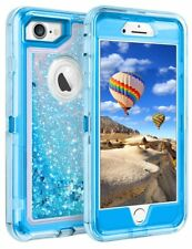 2018 NEW Defender Case Shiny Glitter Protective For iPhone 6/7/8/X Transparent