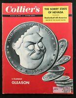 COLLIERS MAGAZINE - March 1955 - JACKIE GLEASON / Early LAS VEGAS Nevada Photos