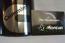 """4"""" Inlet 6"""" Outlet 12"""" long Black Rolled Angle Diesel Exhaust Tip - Custom Logo"""