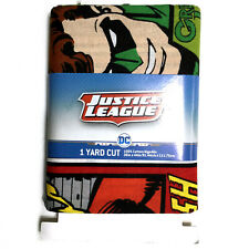 Justice League Dc 1 Yard Cut Fabric 100% Cotton 36in X 44in Batman Flash Aquaman