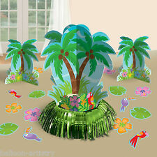 23 PEZZI Tropicale Hawaiano Luau Palma Estate Bbq Party Tavolo Decorazione Kit