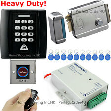 125KHZ RFID Card+ Password Security Door Access Control System+Electric Lock New