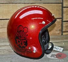 RAT FINK HELMET RED METAL FLAKE ED ROTH BOBBER CHOPPER BIKE MOTORCYCLE CUSTOM