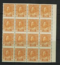 Canada SC# 126b? BK of 16 MNH Appears Type I / SmTone Spot / see notes - S6769
