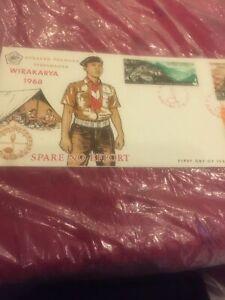 #98 Indonesia FDC 1968  Boy Scouts  Wirakarya CAMP Guitar.Stamp