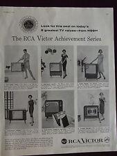 1958 RCA Victor Achievement Series Television Advertisement 6 Models Shown
