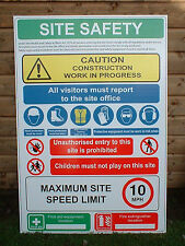 5 X Building Site Safety Sign PPE Sign Large 600mm X 800mm Warning & Safety Sign