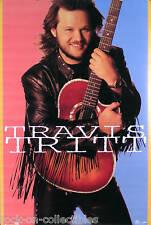 TRAVIS TRITT 1992 T-R-O-U-B-L-E STORE PROMO POSTER ORIGINAL
