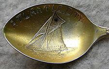 Atlantic City Sterling Silver Souvenir Spoon Vintage Sailboat