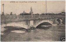 cpa : AUXERRE, Crue de 1910, le Pont Paul Bert. Animée.