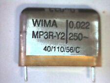 5x MP Y2 Capacitor 22nF 0,022uF 250V~ 250VAC WIMA MP3R-Y2 Kondensator
