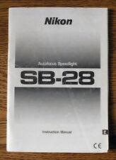 Nikon Sb-28 Autofocus Speedlight instruction manual