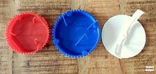 Signaldeckel 60mm rot 70mm blau Putzdeckel Federdeckel Kaiser Universaldeckel