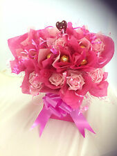 FERRERO ROCHER GIFT SWEET TREE BOUQUET WITH FLOWERS HAND MADE