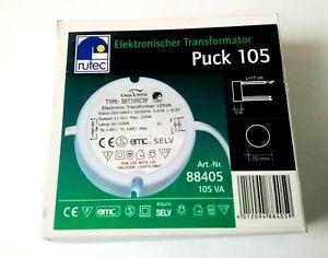 █► Elektr. Trafo Rutec Puck 105 - 35-105 Watt Dimmbar - Ersatz für Self SET105-R