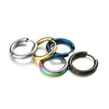 Huggie Hoop 304 Stainless Steel Earrings 2.5mm Thick - Pick A Colour/Size (006)