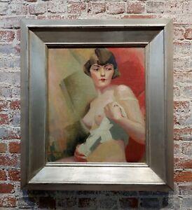 Reva Jackman Cubist student of André Lhote-1927 Female Portrait -Oil Painting